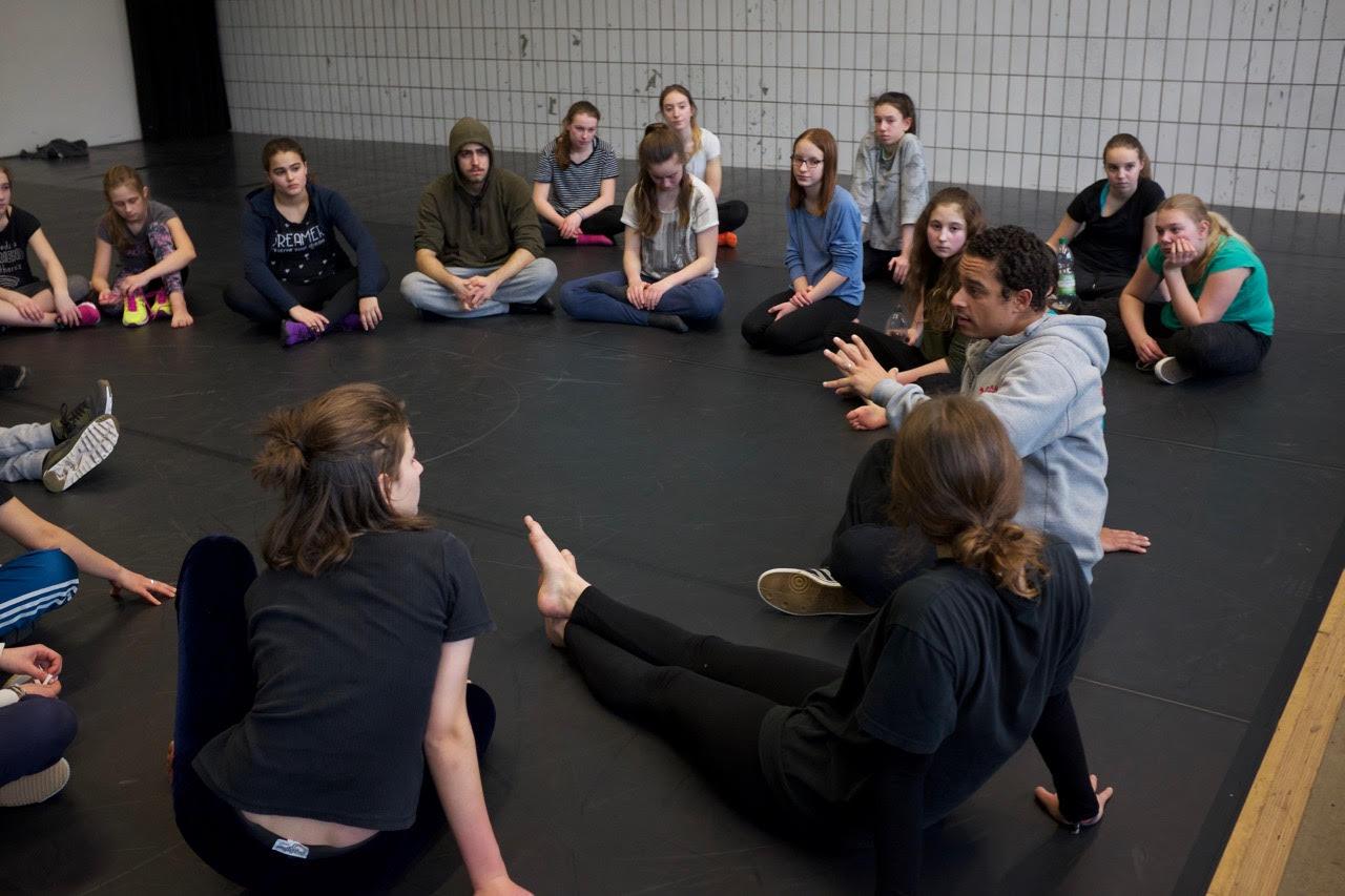 PURPLE-Workshop mit Jugendlichen. copyright: Roberto Duarte